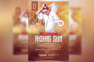 Rising Sun - PSD Flyer