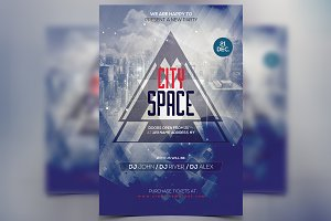 City Space - PSD Party Flyer