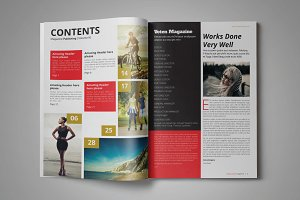 VOTEN Magazine Template