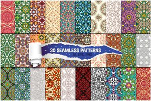 30 Floral Seamless Vector Patterns