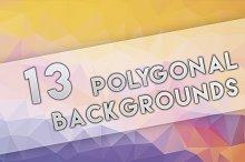 13 Polygonal Backgrounds [8k]