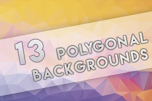13 Polygonal Backgrounds [8k]