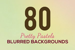 80 Pretty Pastel Blurred Backgrounds