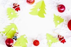 Christmas origami balls santa image