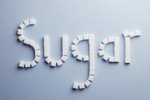 Sugar cube text