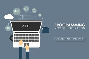 Programming and coding vector