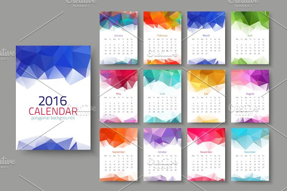 Geometrical calendar of 2016 in Graphics