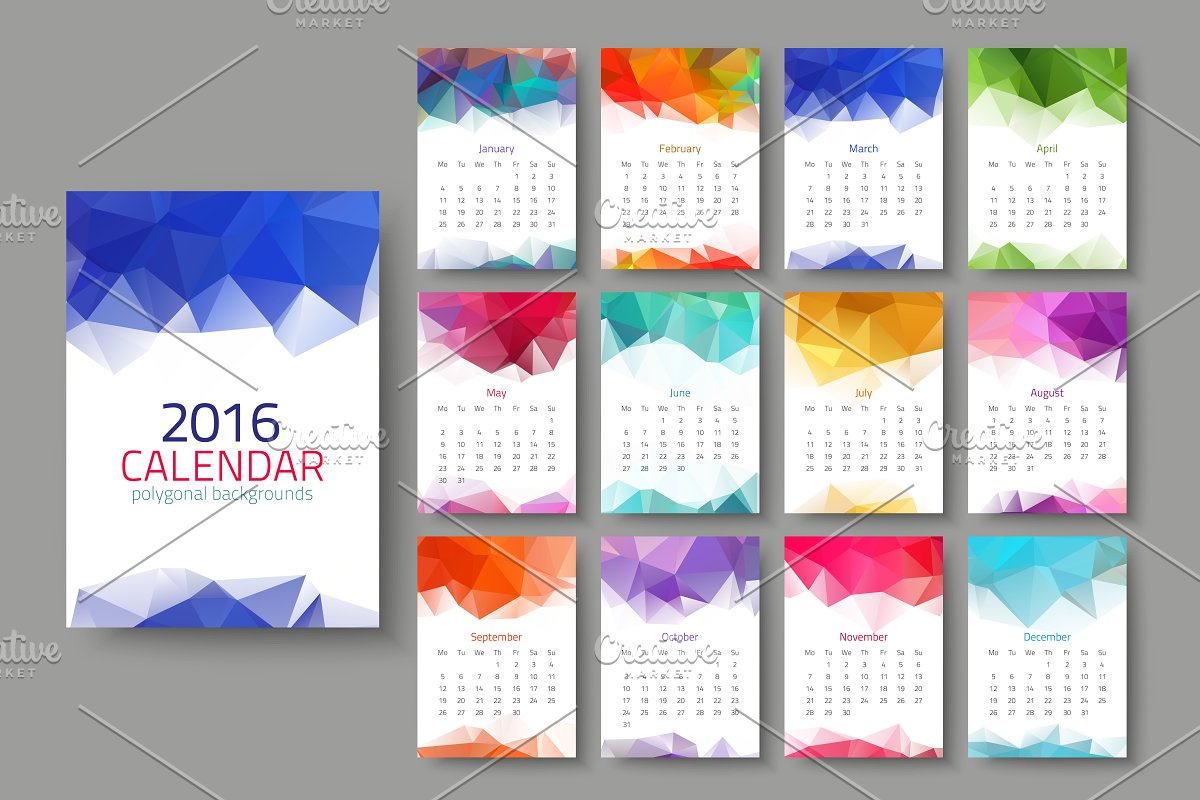 Geometrical calendar of 2016 in Graphics - product preview 8
