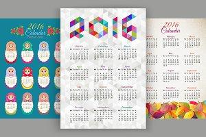 Set of simple calendars