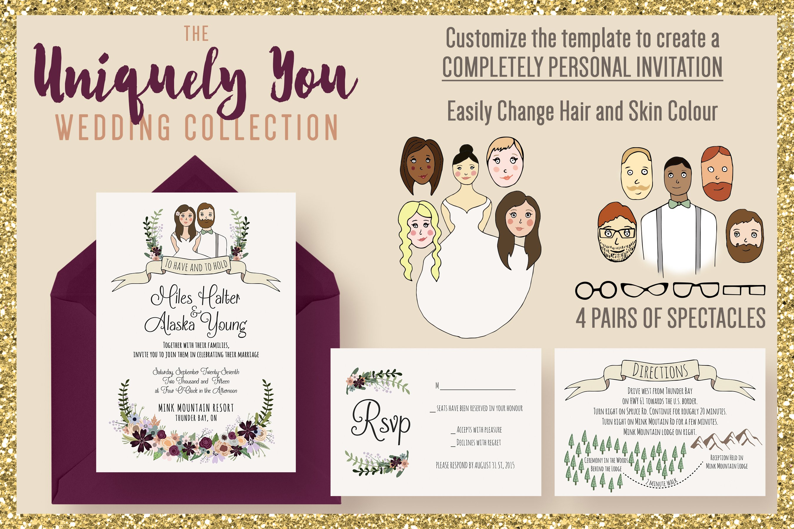 The Uniquely You Wedding Collection Wedding Templates