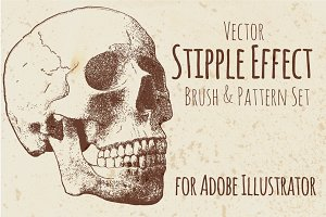 Stipple Effect set for Illustrator