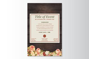 Rustic Floral Flyer Template