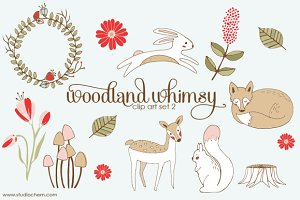 Woodland Whimsy 2 .PNG Clip Art Set