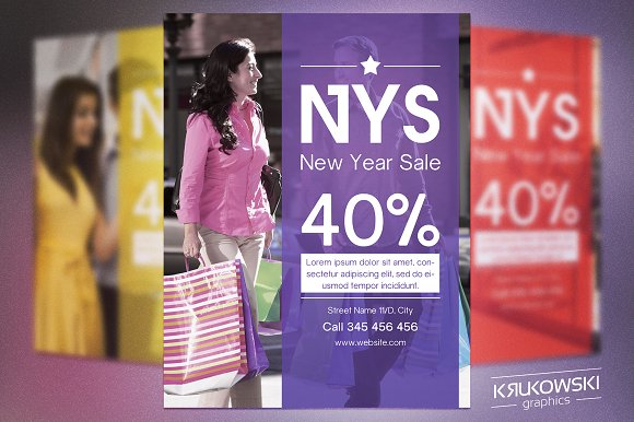 NY Sale Flyer Template - Flyers