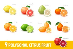 Polygonal citrus fruit