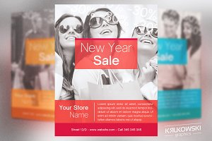 Elegant New Year Sale Flyer