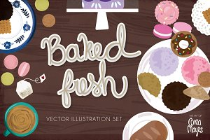 Baked Fresh Vector Pack