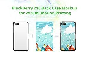 BB -up Z10 2dCase Back Mock