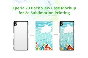 Xperia Z3 2d Case Back Mock-up