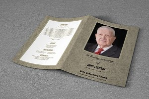 Funeral Program Template-T300