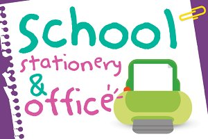 School stationery and office
