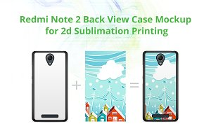 Redmi Note 2 2dCase Back Mock-up