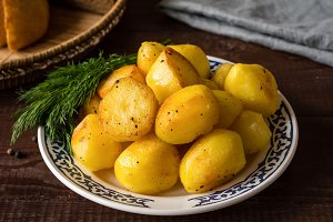Roasted yellow potatoes