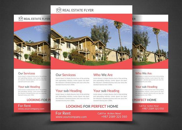 real estate flyer template flyer templates creative market