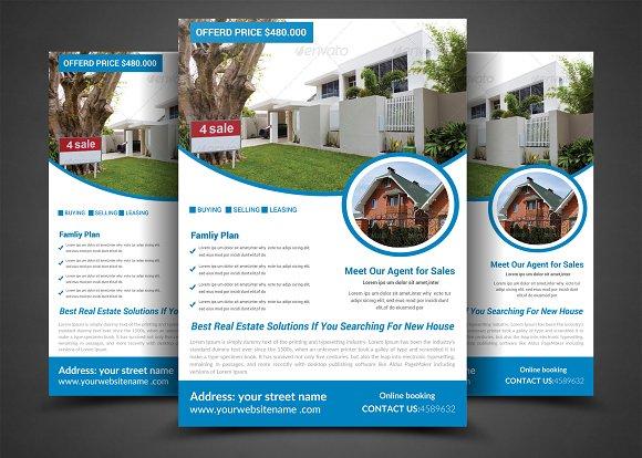 Pro Real Estate Flyer Template Flyer Templates Creative Market