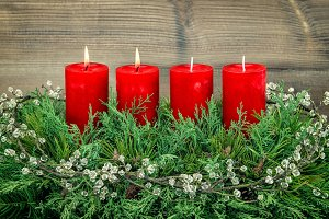 Advent. Two burning candles