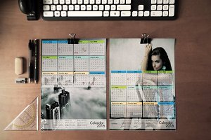 4x Calendar 2016 Template Bundle