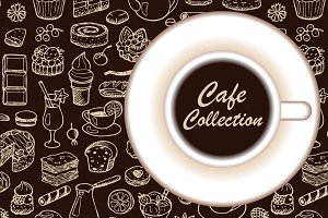 Hand drawn Cafe Collection