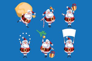 Collection of Christmas Santa Claus