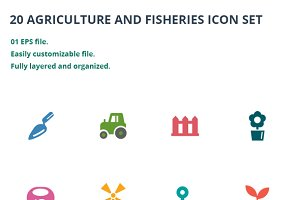 Agriculture and Fisheries Icons