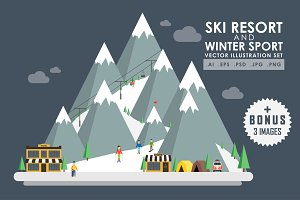 Ski resort and winter sport