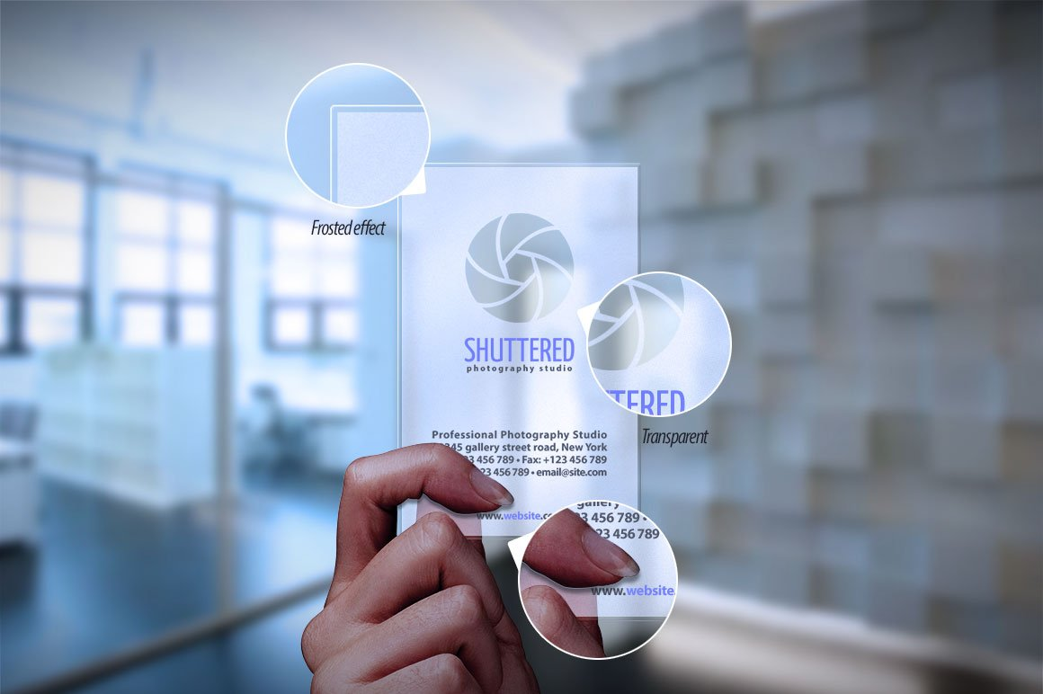Transparent Business Card Mockup ~ Product Mockups ~ Creative Market