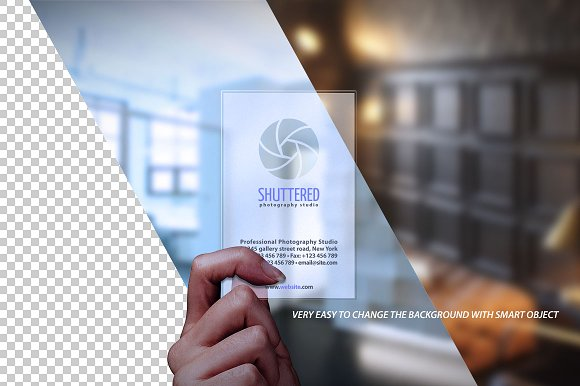 Transparent business card mockup product mockups creative market reheart Image collections