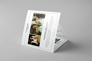 Wedding Photography  Square Trifold
