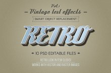 Retro Vintage Text Effects Vol.1