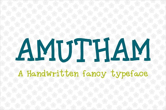 Amutham Typeface