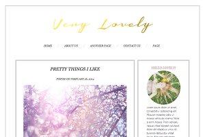 Very Lovely Wordpress Blog Theme