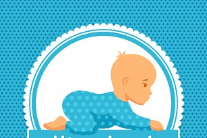 It is a boy. Baby shower invitations