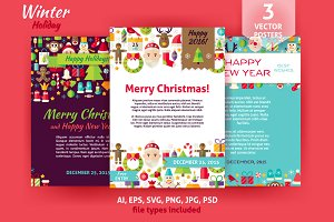 Merry Christmas Vector Posters