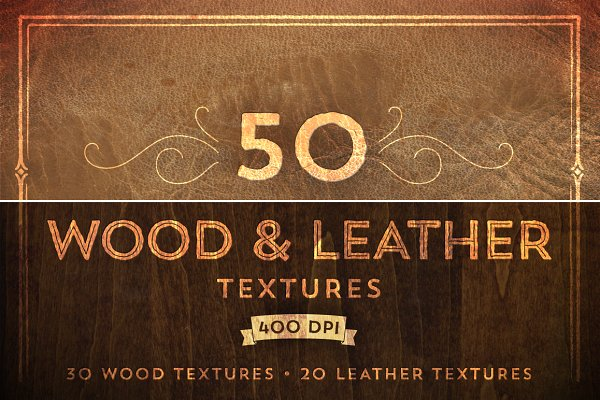 50 Wood & Leather Textures