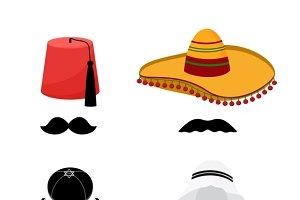 Turkish, mexican, arabic, jewish hat