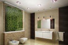 3D render of the modern bathroom