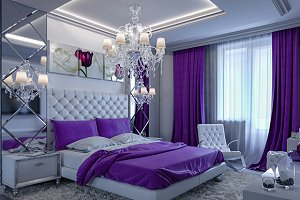 3d rendering modern bedroom