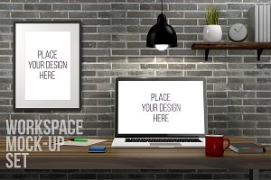 Photorealistic Workspace Mock-UP