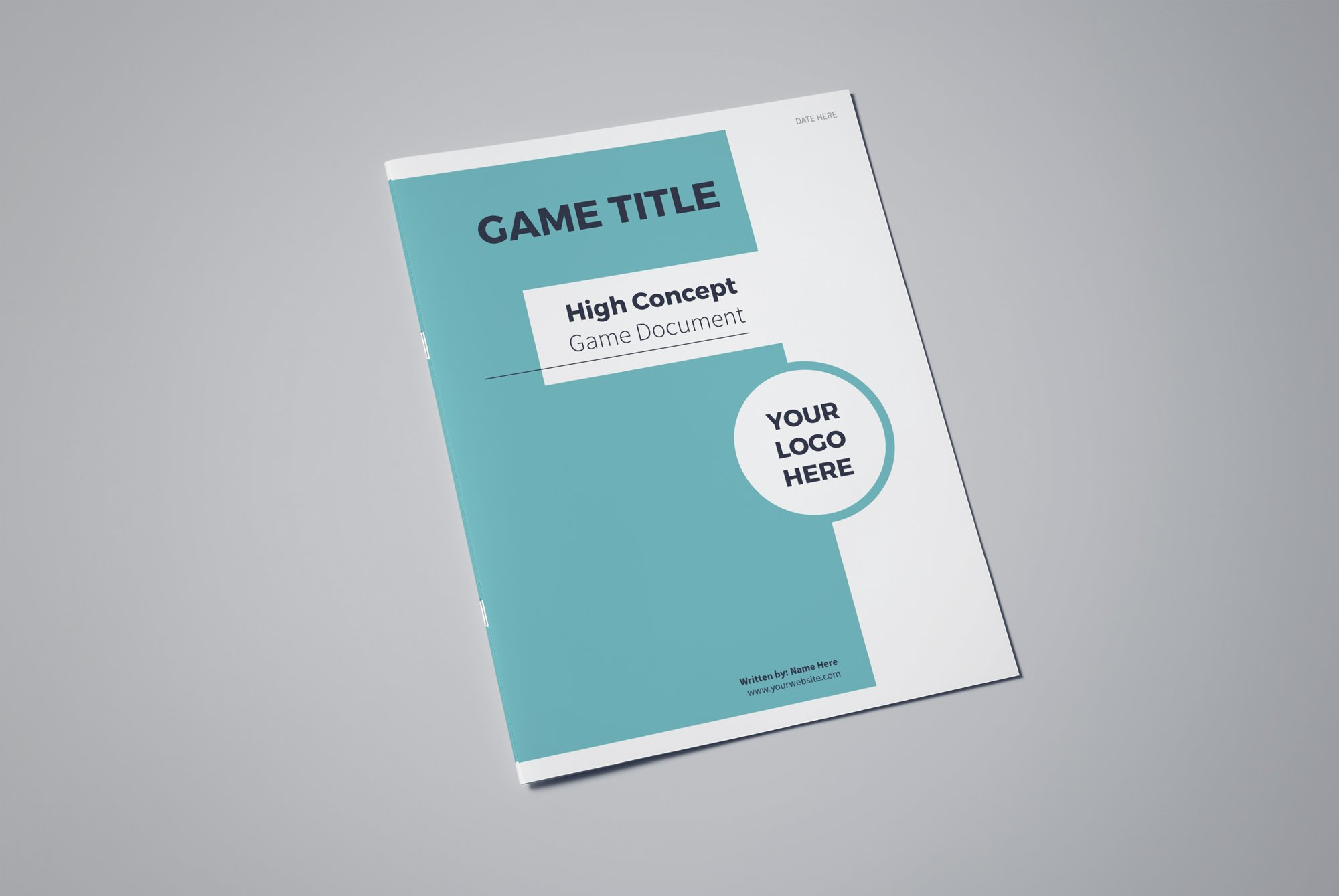 High concept game document template brochure templates creative high concept game document template brochure templates creative market maxwellsz