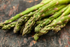 Fresh Asparagus on Stone